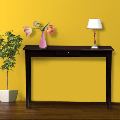 Wood Console Table Hall Table With One Drawer Living Room Entryway