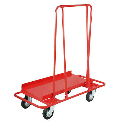 Red Professional Drywall Cart Dolly Handling Sheetrock Panel Service Cart 2000lb