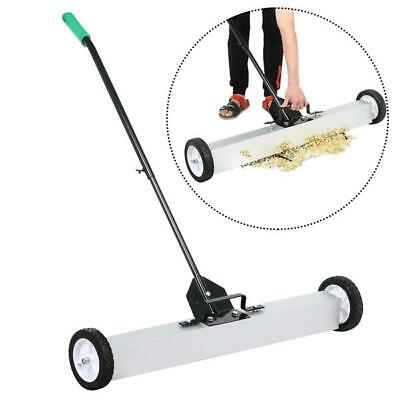 36'' Rolling Magnetic Sweeper Pickup Push Broom Floor Cleaner Tool Telescoping