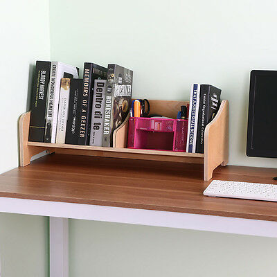 Wooden Tabletop Book Holder Shelftop Bookcase With Fixed Book Stop Angled Base
