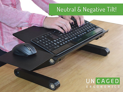 Ergonomics Mouse Pad Keyboard Uncaged Adjustable Height Adjust Computer Black