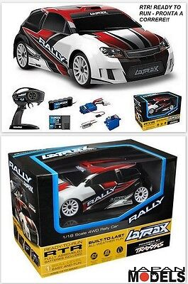 TRAXXAS LATRAX RALLY CAR Red RTR 4WD 1/18 Brushed Waterproof Automodello Rc New