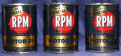 STANDARD OIL CALIFORNIA LOT 3 Vintage RPM Special MOTOR OIL CAN MINI COIN BANKS