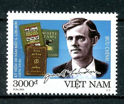 Vietnam 2016 MNH Jack London 1v Set Books Literature Writers Stamps