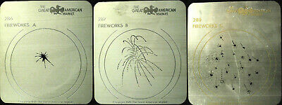 "Gobo template 3 pattern set - GAM 286, 287 and 288 ""Fireworks"""