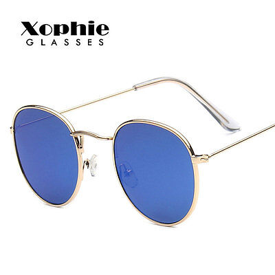 Women's Fashion Retro Vintage Metal Mirrored Outdoor Sunglasses Eyewear Glasses