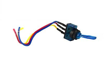 """Blue Toggle Switch w/ 6"""" Lead Wire 3 pin SPST 12 Volt Car Audio Power Fog Lights"""