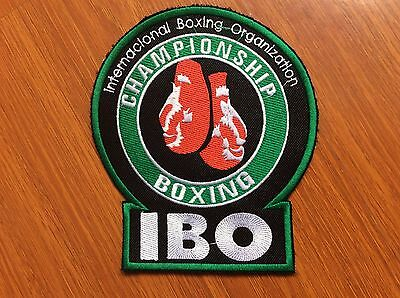 Patch Ibo - International Boxing Organization - Boxe - Big Size 15 X 13 Cm