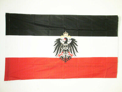 GERMAN EMPIRE WITH ARMS 1871-1918 FLAG 3' x 5' for a pole - GERMAN REICH FLAGS 9
