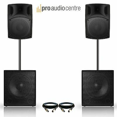 """2000W DJ Disco Party Active Band PA System 15"""" Subwoofers 
