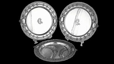 Tiffany Prize Winning Set Of Sterling Silver Dishes: P. Farnham,1900 Paris Expo