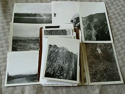 Lot of 25 True Vtg Pre-WW2 Photographs Blk & Wht (Mountains, Rocky Mountains)