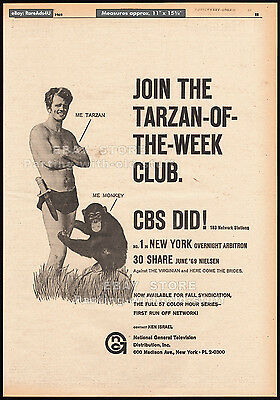 TARZAN TV Series__Original 1969 Trade AD / poster__TV syndication promo__RON ELY
