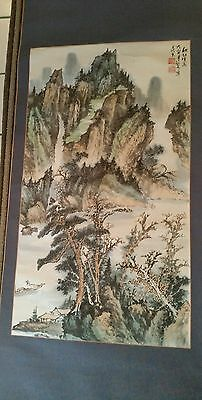 Antique japanese/Chinese hanging painted on silk.