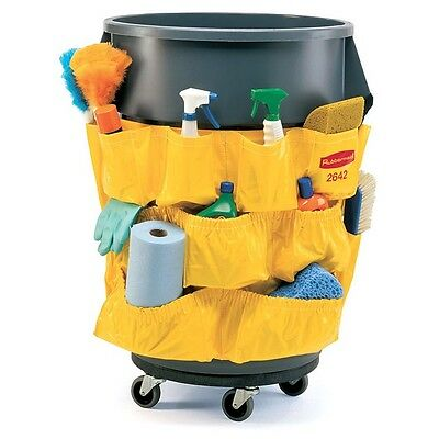 NEW Rubbermaid Brute Round Container Caddy Bag Janitorial Bag 2642