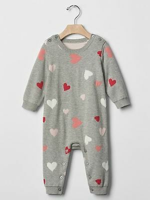7d335c165129 GAP BABY GIRLS Size 3-6 Months NWT Pink   Gray Penguin One-Piece ...
