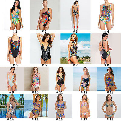 Women One-Piece Swimsuit Beachwear Swimwear Push Up Monokini Bikini Set Bathing