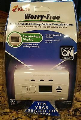 Kidde C3010D Worry-Free Carbon Monoxide Alarm with 10 Year Sealed Battery