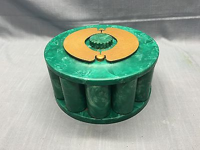 Mid-Century TURN-IT Mfg. Co. Bakelite Poker Chip Holder GREEN