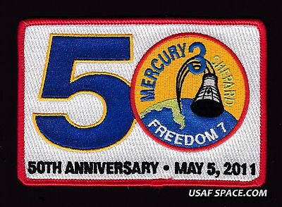 FREEDOM 7- 50th ANNIVERSARY -ALAN SHEPARD- ORIGINAL Tim Gagnon NASA SPACE PATCH