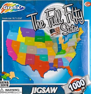 50 us states map puzzle 1000 pieces by walterdrake