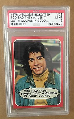 1976 Welcome Back Kotter - #26 - Too Bad They Haven't A Course - Psa 9