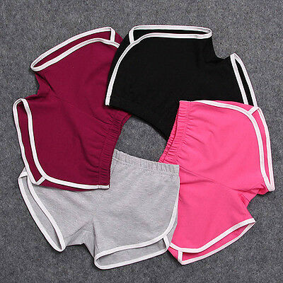 Summer Pants Women Sports Shorts Gym Workout Waistband Skinny Yoga Short S M