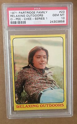1971 Partridge Family - Series 1 #23 Relaxing Pop 1 Psa 10