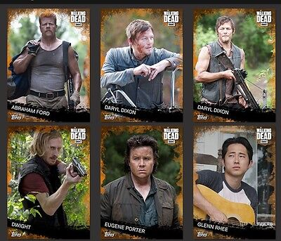 DIGITAL CARDS The Walking Dead Card Trader Orange Base Set (6 Cards)