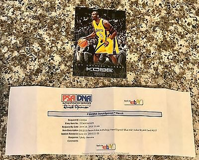 2012-13 Panini Anthology Kobe Bryant Los Angles Lakers Signed Auto Card PSA Opin