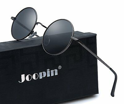 Polarized Sun Glasses Joopin-Round Retro Polaroid Sunglasses Driving Men Vintage
