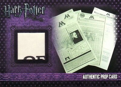 Harry Potter & the Deathly Hallows Part 1 Ministry Magic Paper P10 Prop Card