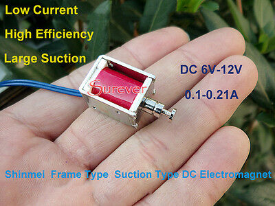Mini Solenoid Valve DC Electromagnet DC 6V-12V Push Pull Frame Suction Type Rod