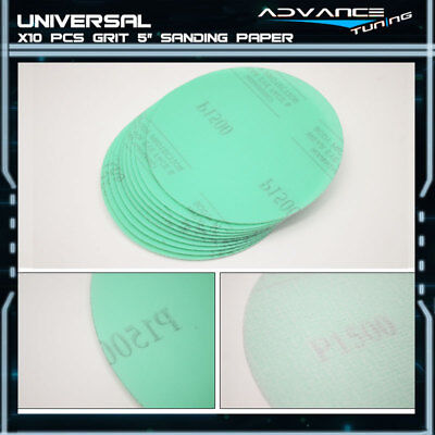 Disc 1500 Grit 5 PSA Green Auto Sanding Paper Sheets Repair Sand Magic Tape 10PC