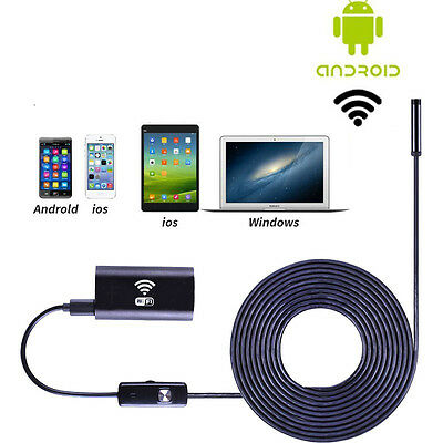 Wifi for IOS Android Endoscope HD 720P 2.0MP 8mm 1M 6LED Waterproof Camera