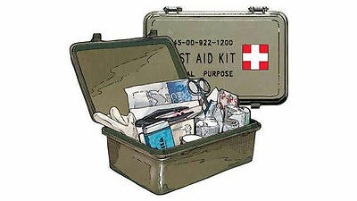 JEEP Military General Purpose First Aid Kit  Made in the USA NSN 6545-00-9221200