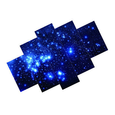 5 Panels Stars in Sky Canvas Print Wall Art Painting Pictures Unframed Decor
