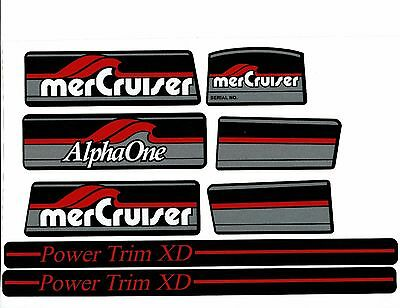 Mercruiser Alpha One Gen One W/ Red Rams Sticker Set