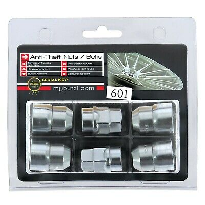 BUTZI Chrome Plated Anti Theft Locking Wheel Nuts Bolts & 2 Keys for Nissan Fuga