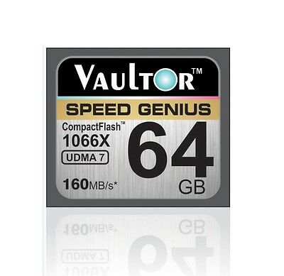 Vaultor 64Gb 1066X Professional Extreme Compact Flash Cf Memory Card - 160Mb/s