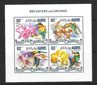 Maldive Islands 2014 Bee-Eaters And Orchids (1) Mnh