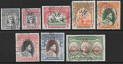 Pakistan-Bahawalpur Sgo20/7 1948 Official Set Fine Used