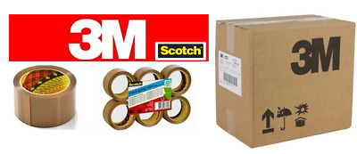 Genuine! Scotch {3M} or Denva  Buff & Clear Tape 48mm x 66m,{upto 144 Rolls}