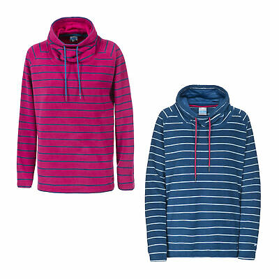 Trespass Yolo Womens Striped Warm Soft Microfleece Hooded Jumper with Pockets