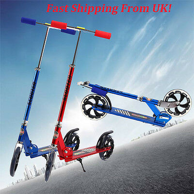 Adult City Town Rider Suspension Push Kick Scooter Folding Large 200mm Wheels