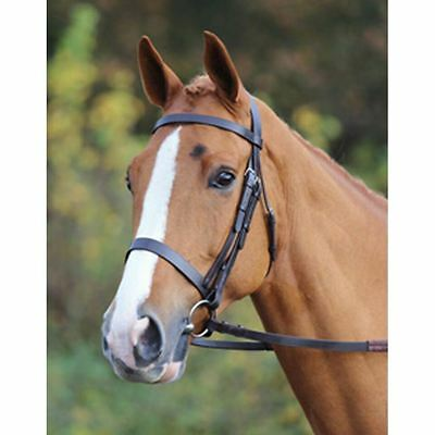 Pony Horse Riding Showing Working Leather Aveimore Hunt Rubber Grip Reins Bridle