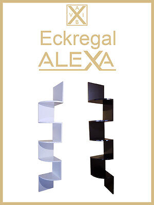 "HOCHGLANZ Eckregal ""Alexa"" Wandregal Zickzackregal Bücherregal in 2 Farben"