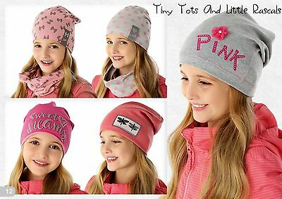 Baby Girls Toddlers Spring Autumn Cotton Elastic Hat Beanie Size 6 mths- 8 years