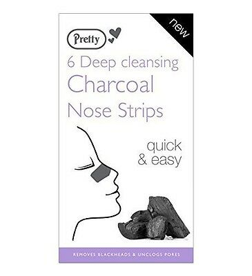 Pretty Deep Cleansing Charcoal Nose Pore Strips x 6