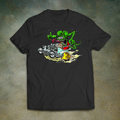 Rat Fink T-Shirt - Vintage Hot Rat Rod Drag Mens Ed Retro Tattoo Rockabilly Roth